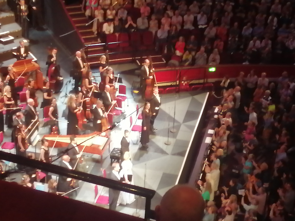 Standing front of stage with soloists Benjamin Hulett, Christoph Pohl, Sarah-Jane Brandon and Conductor Omer Meir Wellber