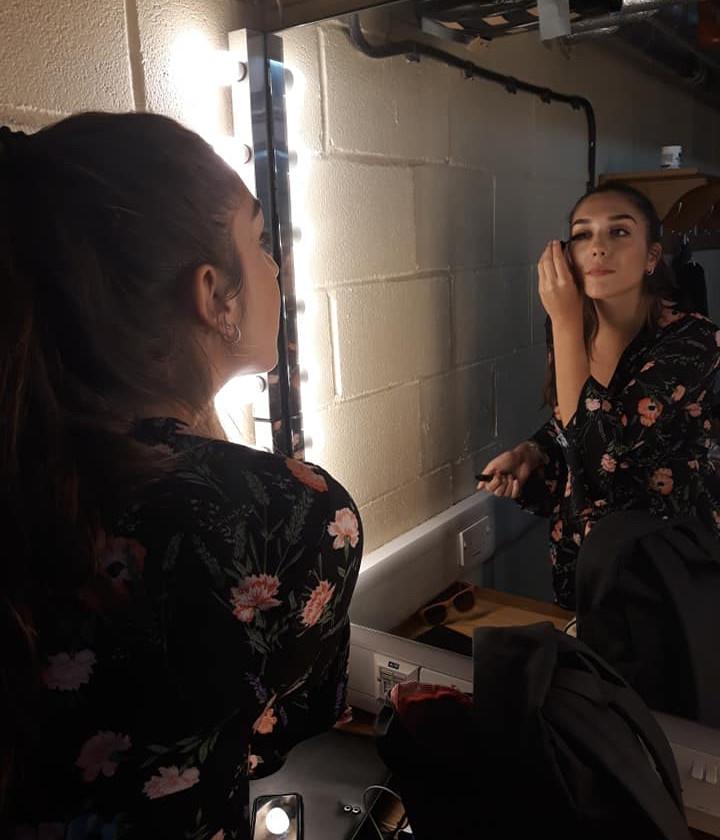 Pre concert makeup time!