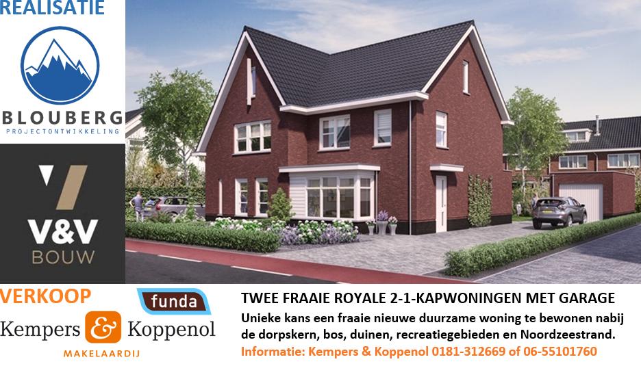 Nieuwbouw 2^1 kap woningen Oostvoorne