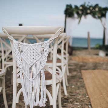Macrame chair sash