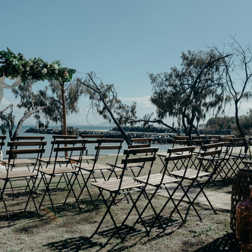 Timber bistro wedding chairs