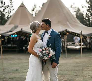 Sunshine Coast Pop Up Weddings Tipi Wedding