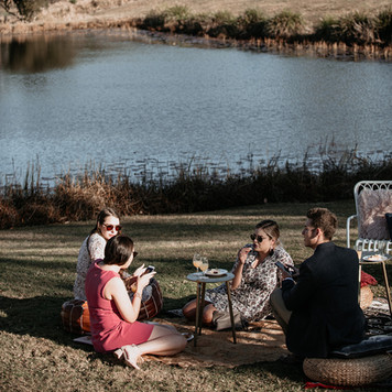 Boho picnic area