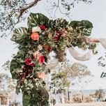 Corner floral installation