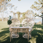 White wash peacock chairs