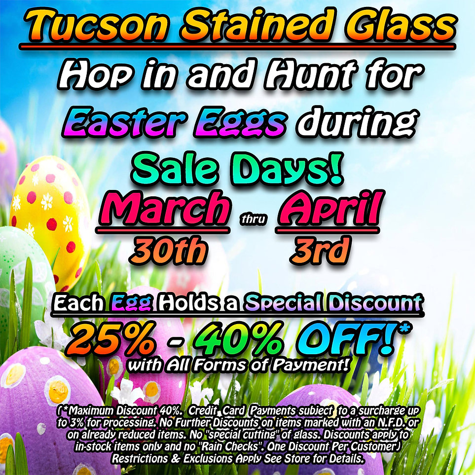 Tucson Stained Glass Sale Days Master Te