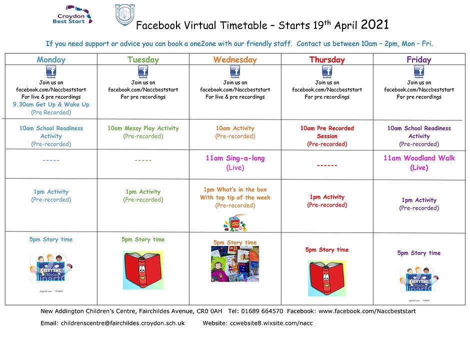 Facebook Virtual  April - May Timetable-
