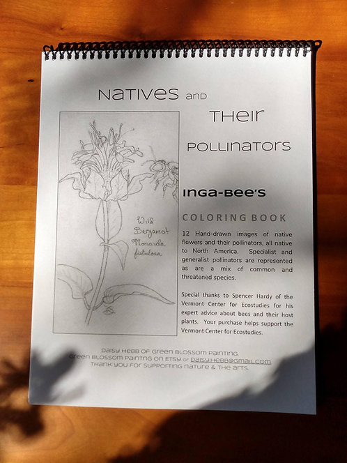 coloring book: 12 Native Plants and their Pollinators