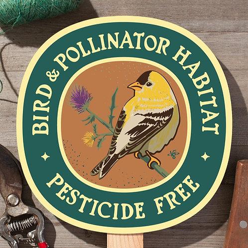 Bird & Pollinator Habitat - garden sign