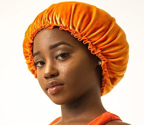 meilleur prix pour gamme exceptionnelle de styles magasiner pour les plus récents Orange Luxury Handmade Velvet Bonnet