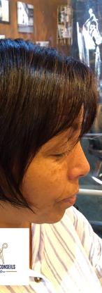 Coupe et Brushing sur cheveux frisés 2 par Arts et conseils coiffure coiffeur à soumagne.p