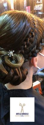 chignon de mariage par Arts et conseils coiffure coiffeur à soumagne.png