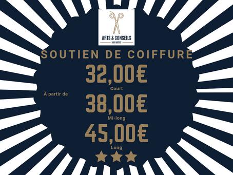 Le soutien de coiffure est à partir de 32,00€ chez Arts & Conseils à Soumagne