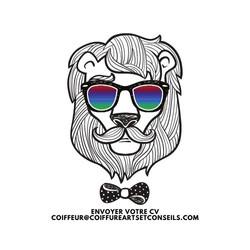 Copie de Black Gray Hipster Lion Movembe