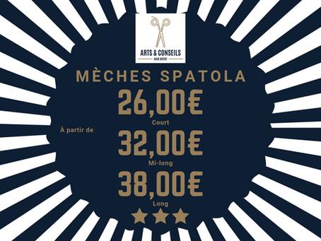 Les mèches Spatola sont à partir de 26,00€ chez Arts & Conseils, votresalon de coiffure à