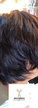 Coupe et Brushing sur cheveux frisés par Arts et conseils coiffure coiffeur à soumagne.png