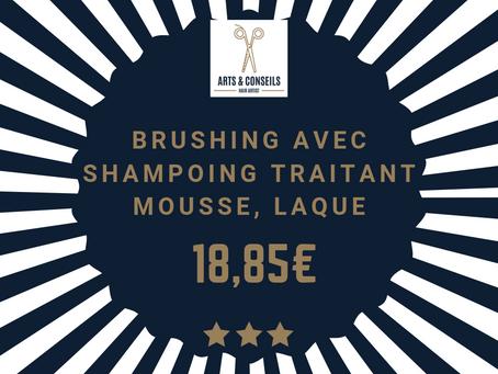 Le brushing est à partir de 18,85€ chez Arts & Conseils, Salon de coiffure à Soumagne
