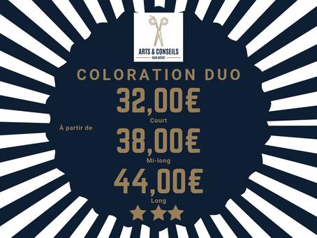 Coloration Duo à partir de 32,00€ Chez Arts & Conseils à Soumagne