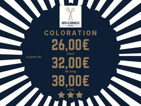 Coloration à Partir de 26,00€ chez Arts & Conseils à Soumagne