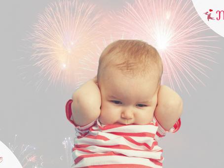 Crianças e a queima de fogos no ano novo