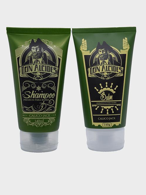 Kit Balm e Shampoo Mentolado Barba