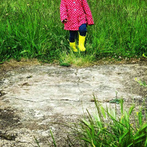 Yellow wellies in grass Copyright Sarah Curtice Photography