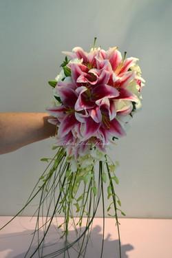 Mariage Lys Rose - Cerise Éclaté