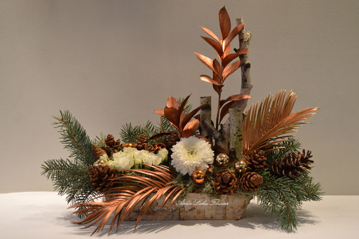 Noël Centre de Table Fleurs Naturelles