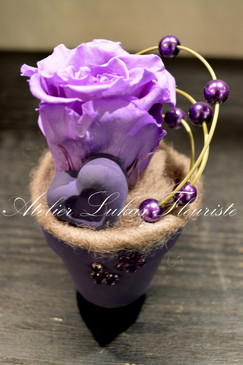Fleurs Rose Préservée Fleuriste Portneuf