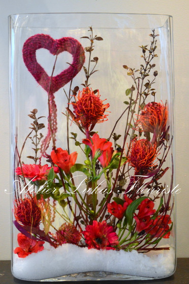 Vase Photo St-Valentin - Atelier Lukas Fleuriste