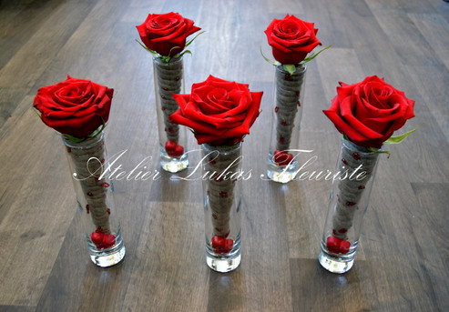 Roses Rouges - Amour - St-Valentin - Fleuriste