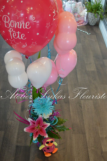 Ballons Hélium Portneuf - Québec - Atelier Lukas Fleuriste