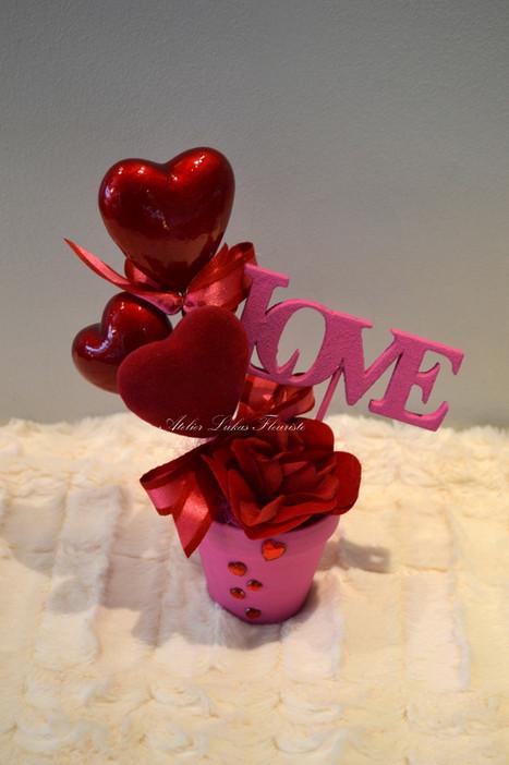 Love - Rose Rouge - St-Valentin - Fleurs - Fleuriste