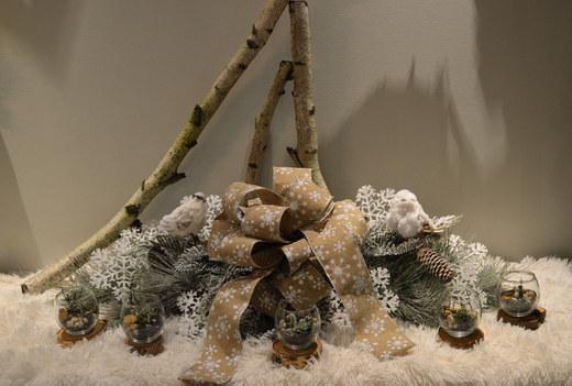 Noël Centre de Table et Terrarium