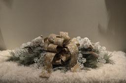 Noël Centre de Table Enneigé