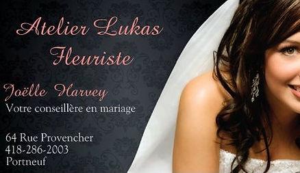 Conseillère en Mariage Atelier Lukas Fleuriste Fleuriste, 64 Rue Provencher RR2 Portneuf Québec