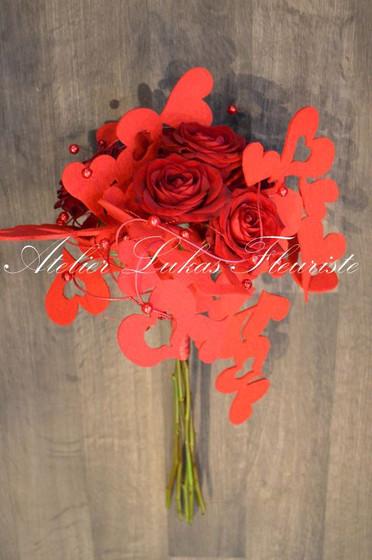 Spéciale Bouquet 6 roses Rouges - St-Valentin