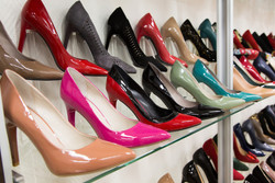 Rows Of Beautiful Women's Shoes On Store Shelves.jpg