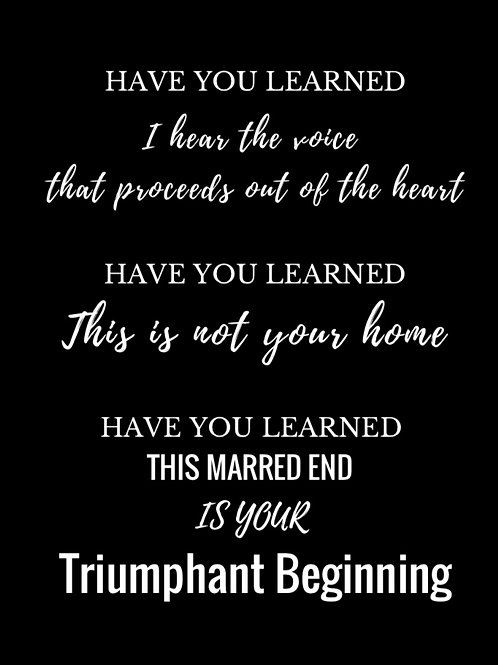 "Triumphant Beginning from ""Refined"" Poem"