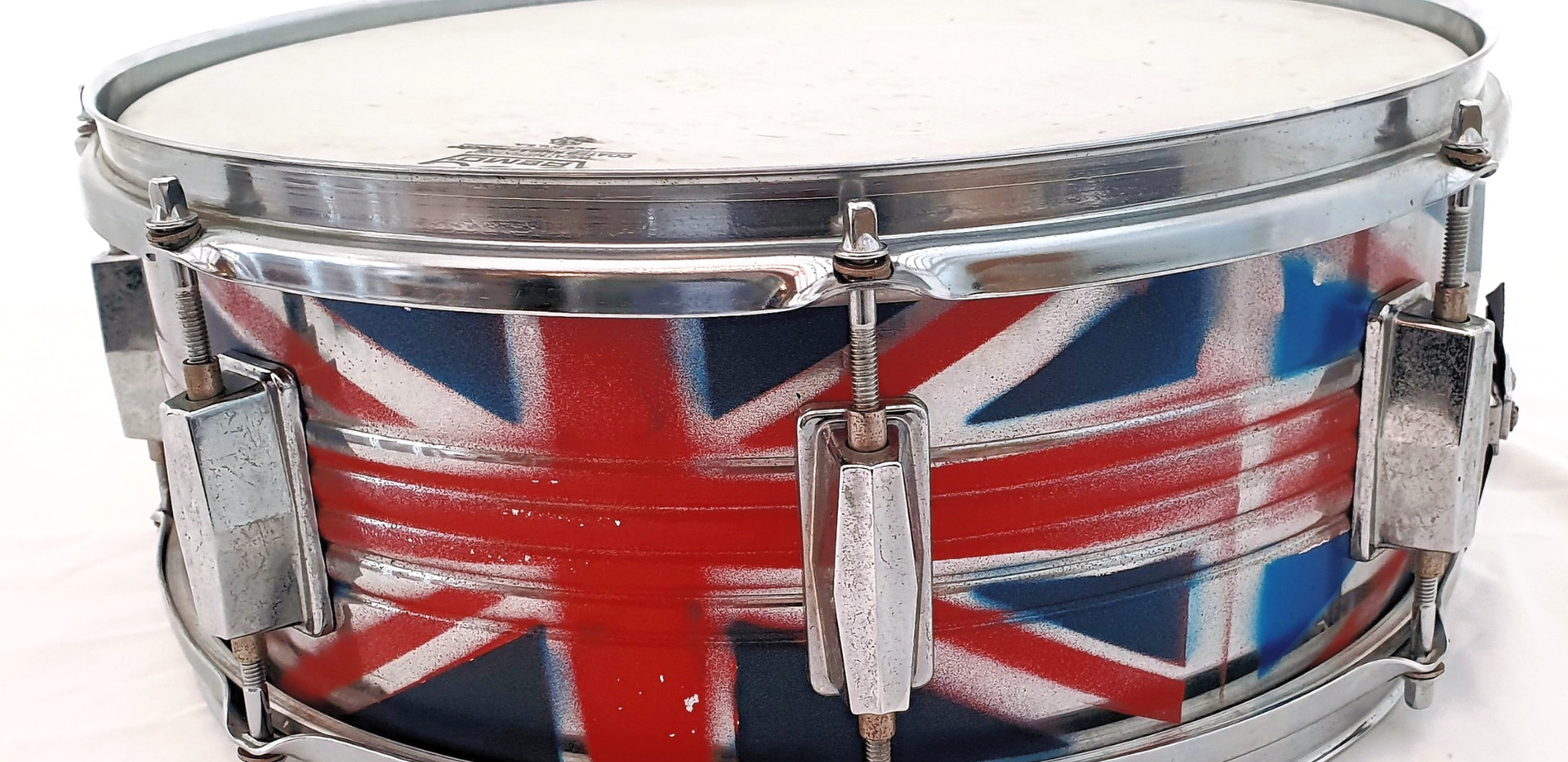 Union Jack sprayed Snare Drum