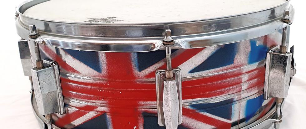 Union Jack sprayed Snare Drum