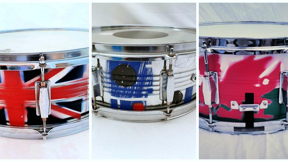 Custom Sprayed Snare Drum