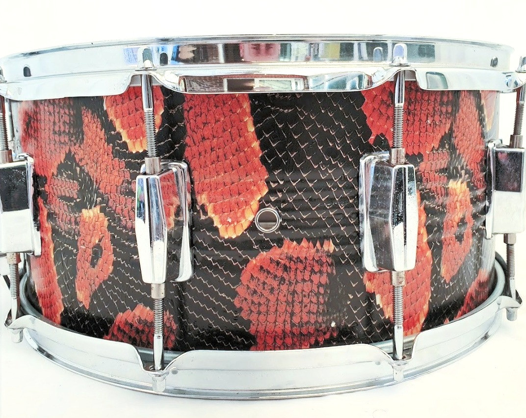 Snakeskin finished Snare Drum