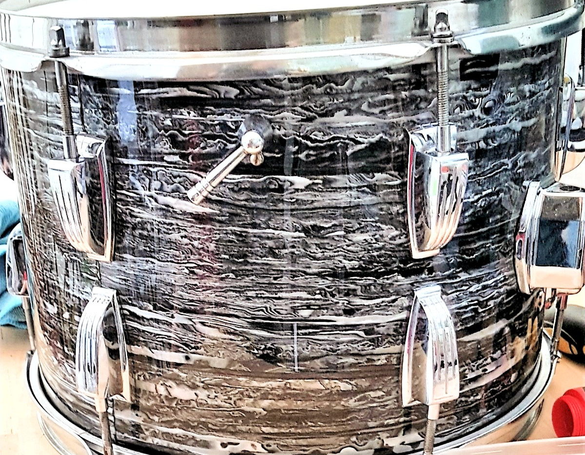 1960's Black Oyster Pearl Drum Wrap
