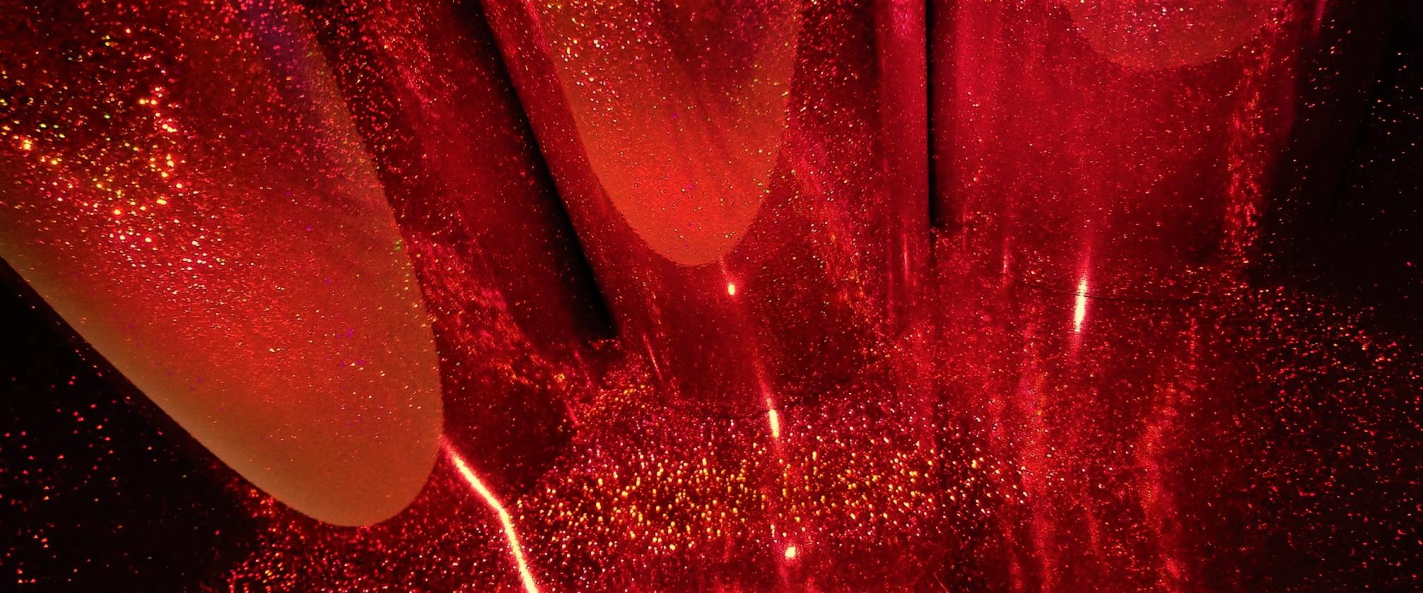 Deep Red Glitter