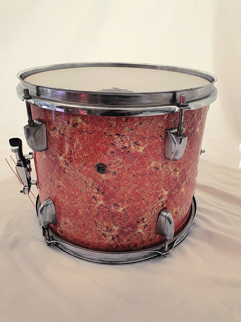 "12"" x 9"" Tom to Snare Drum conversion in Custom Lava Wrap"