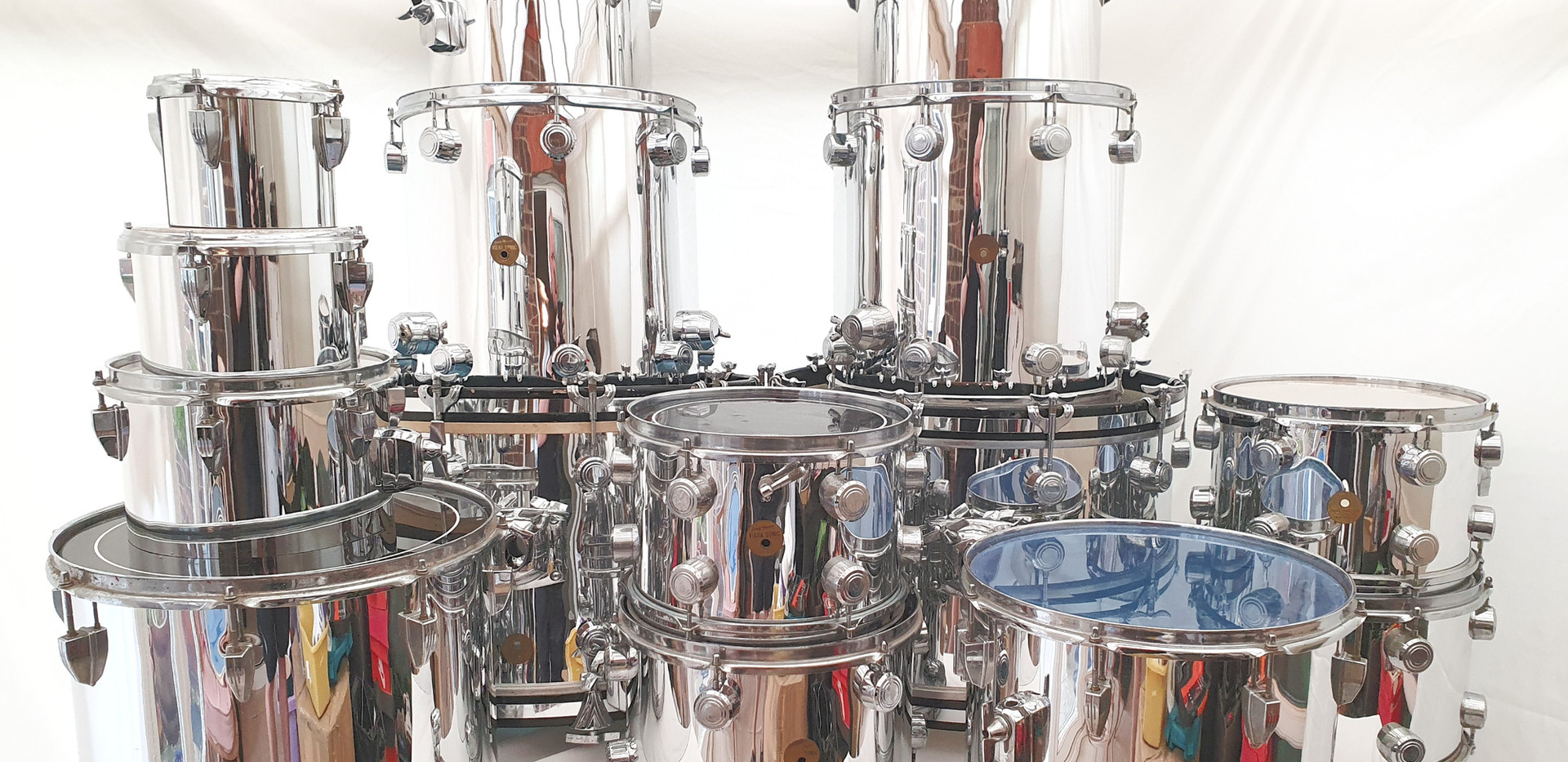 Delmar Mirror Chrome Drum Wrap