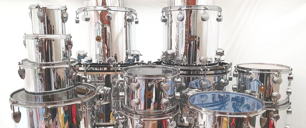 Delmar Mirror Chrome Drum Wrap