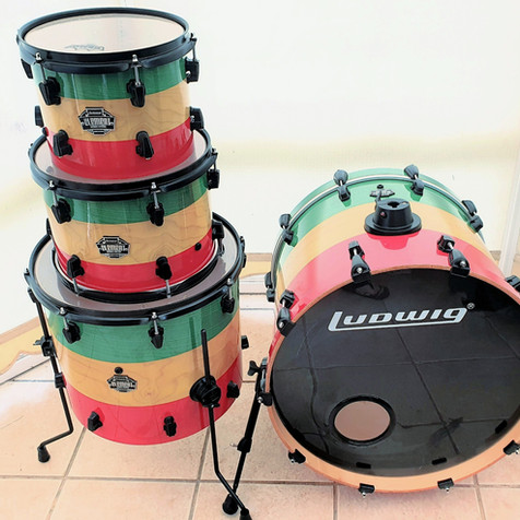 Reggae Themed Drum Wrap