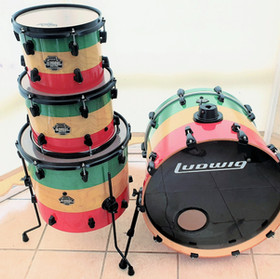 Reggae Themed Drum Wrap